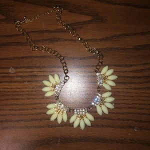Forever 21 gold and light green necklace
